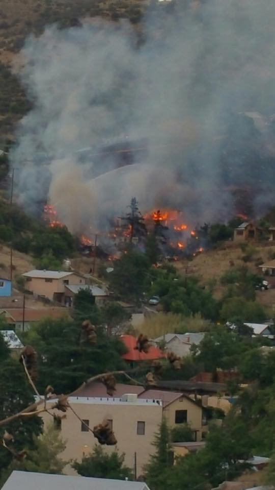 Cochise County Sheriff's officials say the fire started around 5:30 p.m. Monday on Star Avenue. (Source: Copper Queen Hotel)