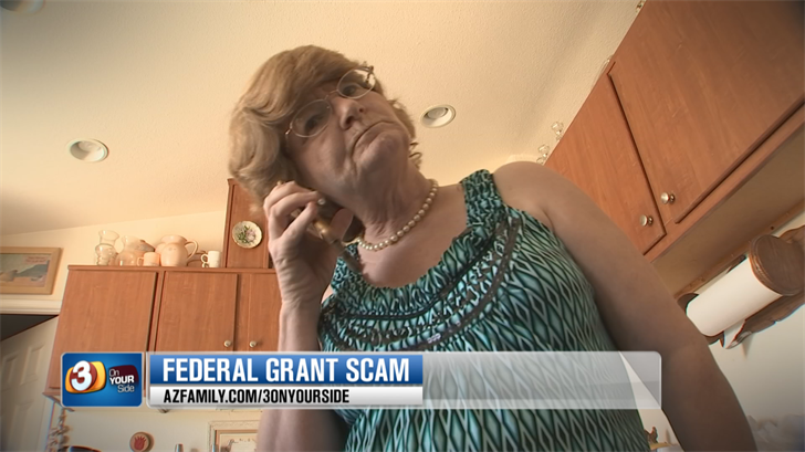 Sheri Leger fell for the Federal Grant Scam. (Source: 3TV/CBS 5)