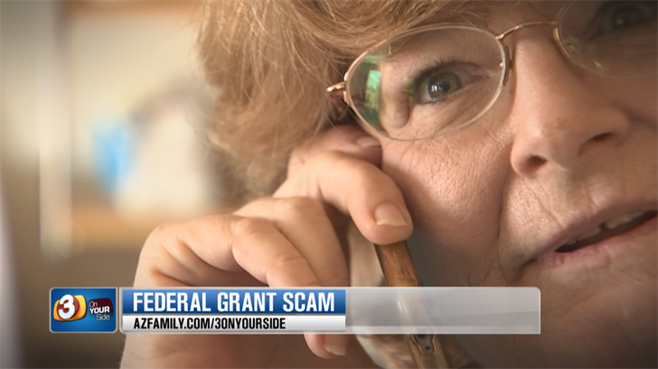 The caller was a scammer and claimed to be with an agency called the U.S. Government Grant Department. (Source: 3TV/CBS 5)