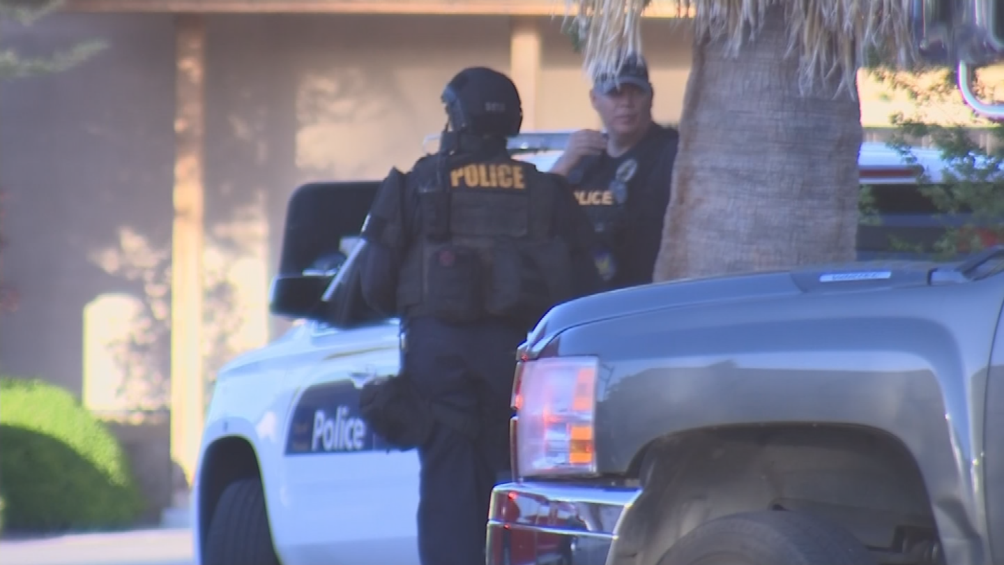 The woman in her late 20s was apparently armed with a handgun and threatening herself and others, police said. (Source: 3TV/CBS 5)