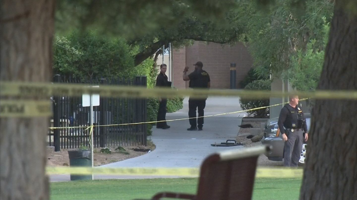 Investigators said the suspect was later shot and killed by a SWAT officer at the Japanese Friendship Garden in downtown Phoenix. (Source: 3TV/CBS 5)