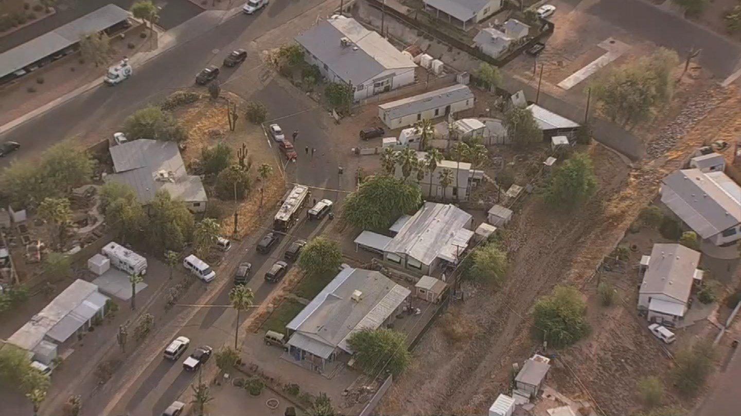 The MCSO is investigating a shooting incident in Mesa that has left 1 dead and another in critical condition. (Source: 3TV/CBS 5)
