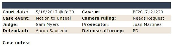 Thursday hearing on 'Serial Street Shooter' case. (Source: Maricopa County Superior Court)