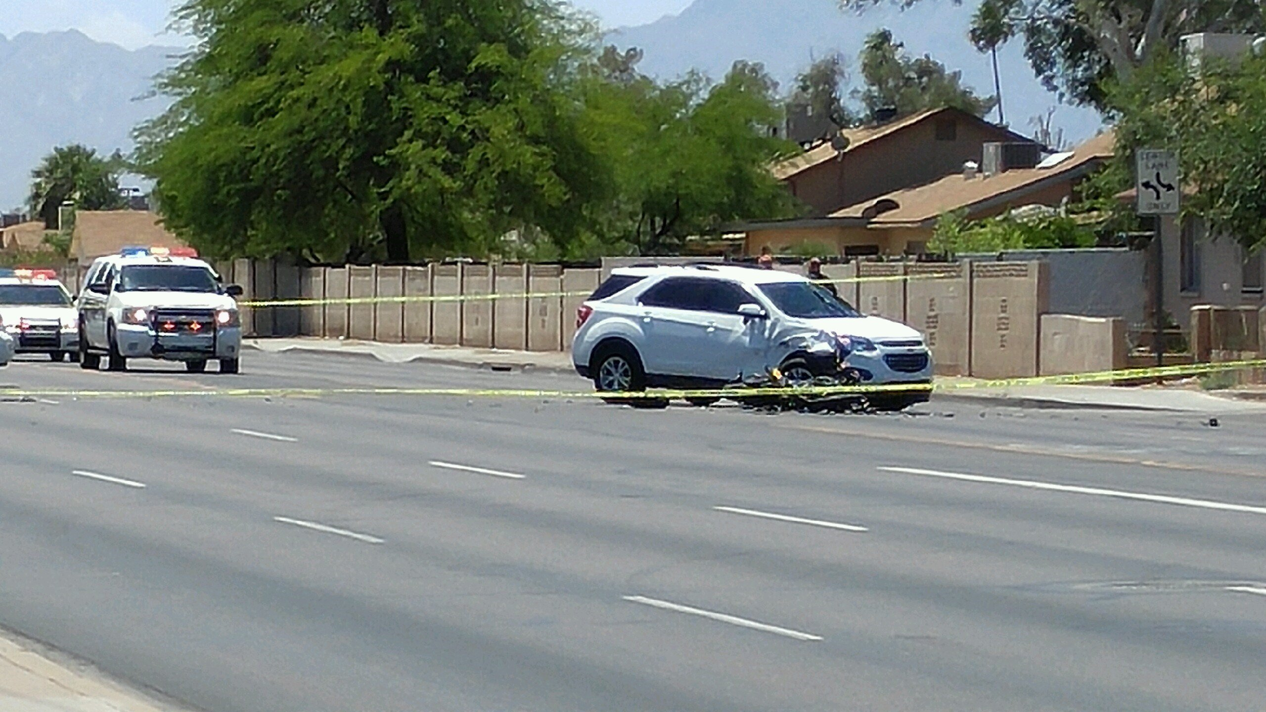 A motorcyclist is left in serious injury after an accident in Phoenix. (Source: 3TV/CBS 5)