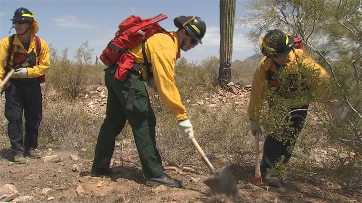 The Scottsdale Fire Department got some extra training in wildfire prevention. (Source: 3TV/CBS 5)