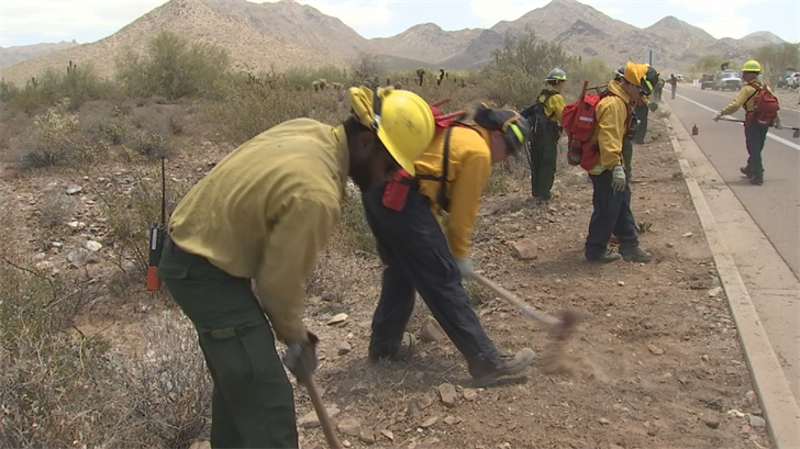 Scottsdale fire crews were getting hands-on training on how to protect homes, businesses and the McDowell Sonoran Preserve. (Source: 3TV/CBS 5)