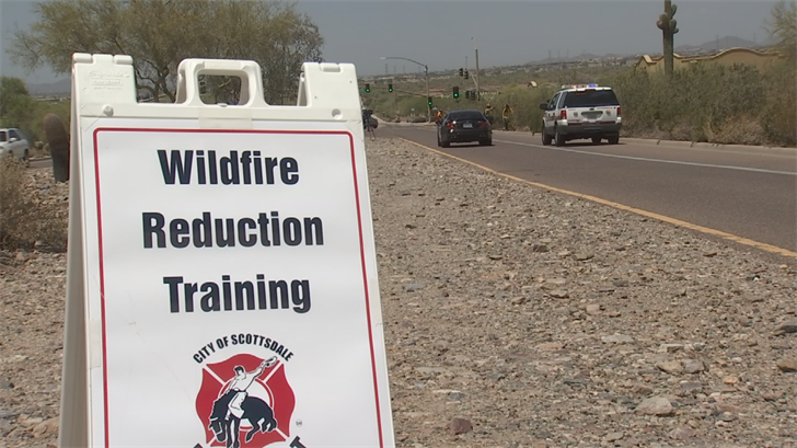 But protecting property isn't just a job for firefighters. Crews are urging homeowners to cut away brush and debris around their houses. (Source: 3TV/CBS 5)