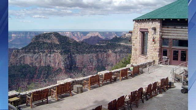 The North Rim Lodge was built in 1927. (Source: U.S. National Park Service)