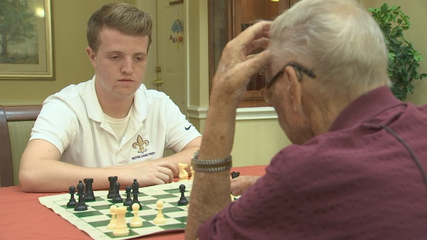 Meeks will be president of the Notre Dame High School Chess Club next year.  (Source: 3TV/CBS 5)