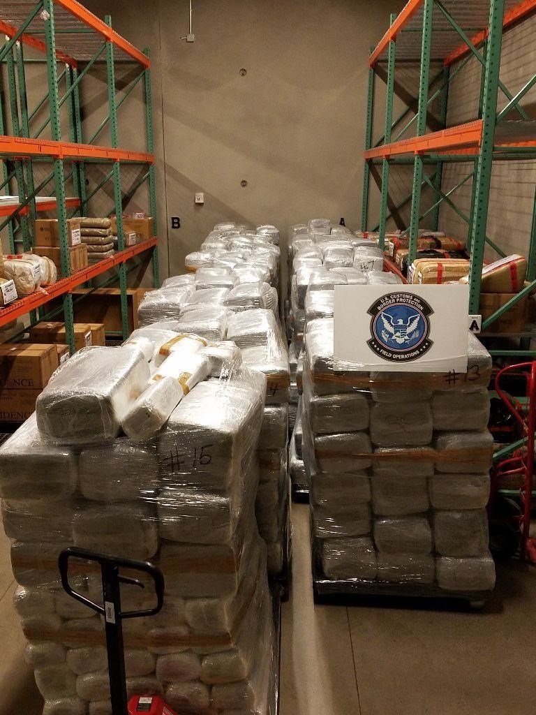 Border authorities seized more than $7.2 million in drugs. (Source: US Customs and Border Protection)