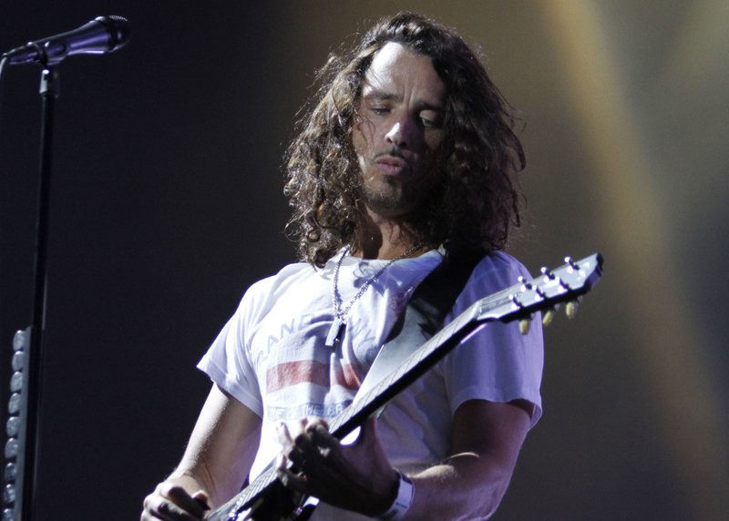 Chris Cornell of Soundgarden performs during the Lollapalooza music festival. Cornell, who gained fame as the lead singer of Soundgarden and later Audioslave, has died Wednesday night in Detroit at age 52. (AP Photo/Nam Y. Huh, File)