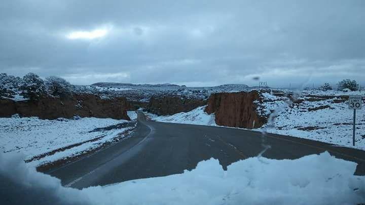Snowfall on May 18, 2017 in Shonto, AZ. (Photo by viewer Glorita Black)