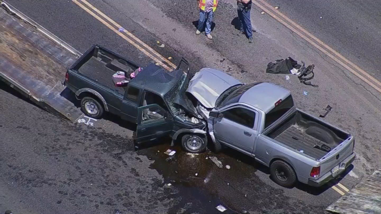 A serious accident involving two vehicles closed Indian School Road between El Mirage Road and 111th Avenue Thursday morning. (Source: 3TV/CBS 5)