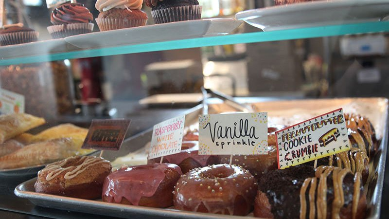 Vegan donuts are on the menu at Nami bakery in Phoenix. (Source: Chelsea Shannon/Cronkite News)