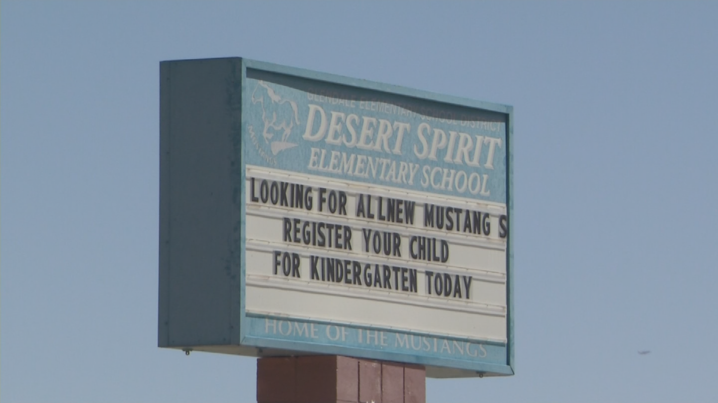Desert Garden Elementary School borders the apartment complex where the incident happened. (Source: 3TV/CBS 5)