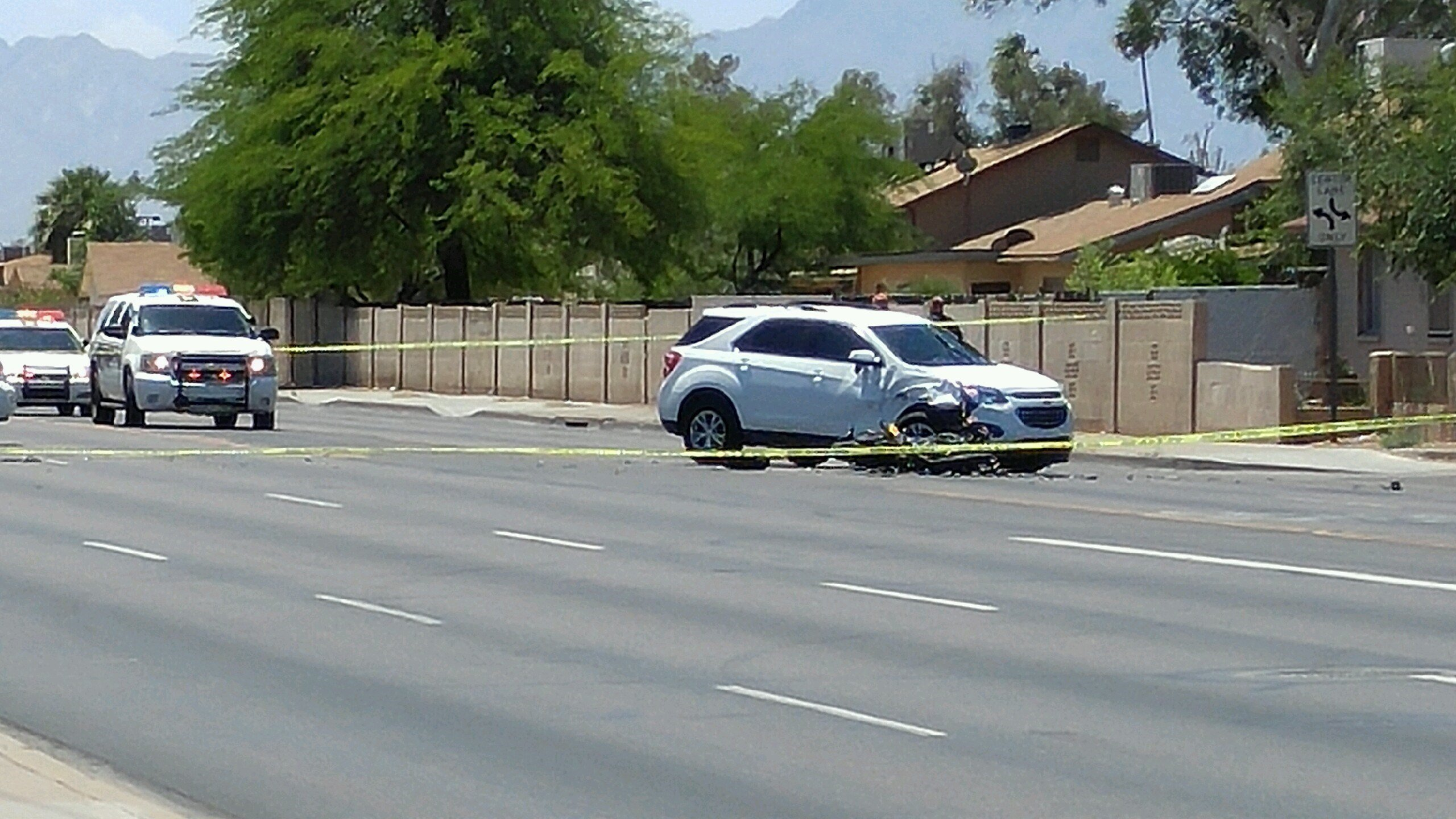 A motorcyclist died after a serious accident in Phoenix. (Source: 3TV/CBS 5)