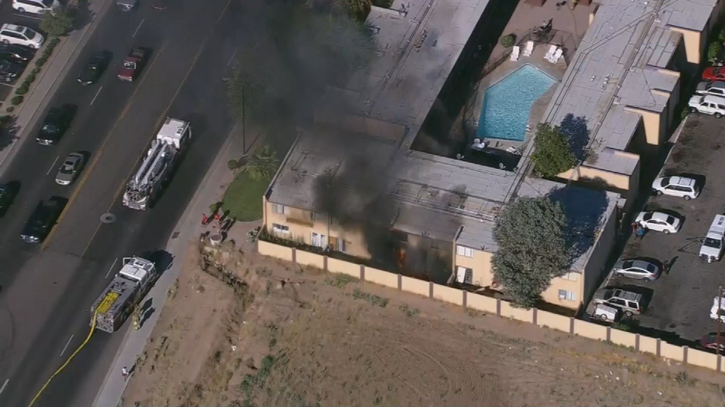 The apartment fire was near the 6500 block of Glendale Avenue. (Source: 3TV/CBS 5)