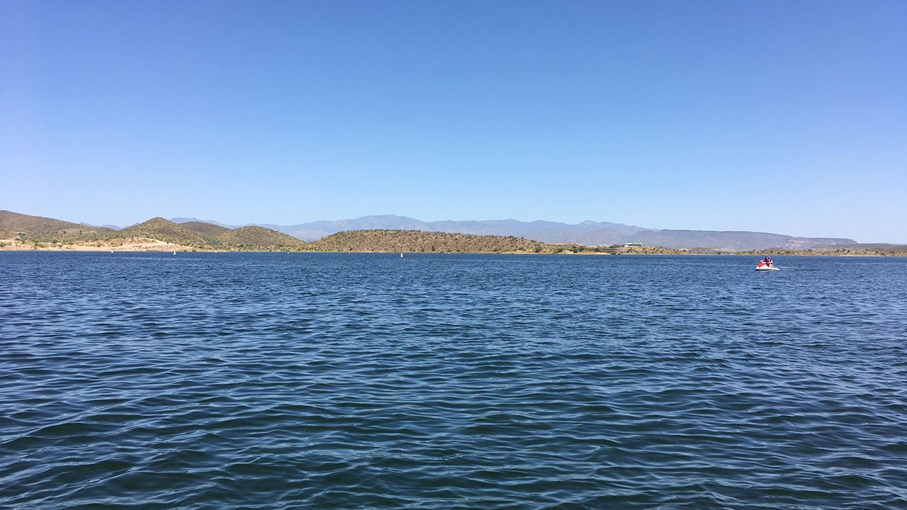 Took this photo while out on Lake Pleasant with the Arizona Game and Fish deputies (Source: Ashlee DeMartino)