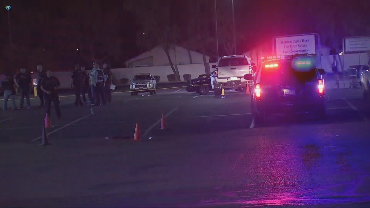 Four men were injured Sunday night during a shooting in Mesa. (Source: 3TV/CBS 5)