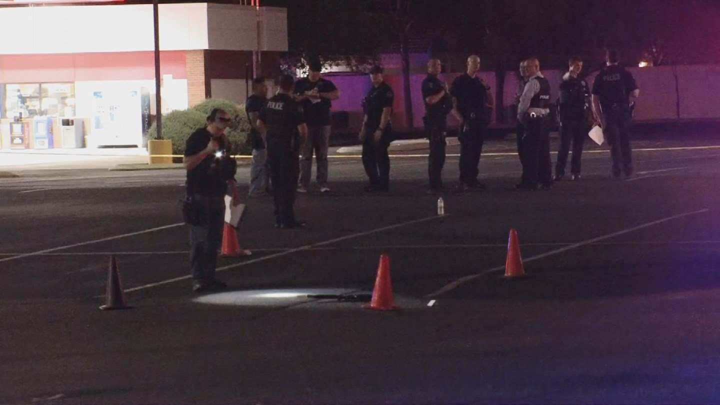 Police said the four men arrived at the parking lot in the same vehicle and knew each other. (Source: 3TV/CBS 5)