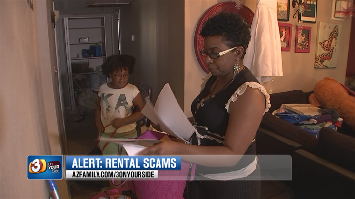 Tyesha Brown thought she scored a deal on a new place to rent. (Source: 3TV/CBS 5)