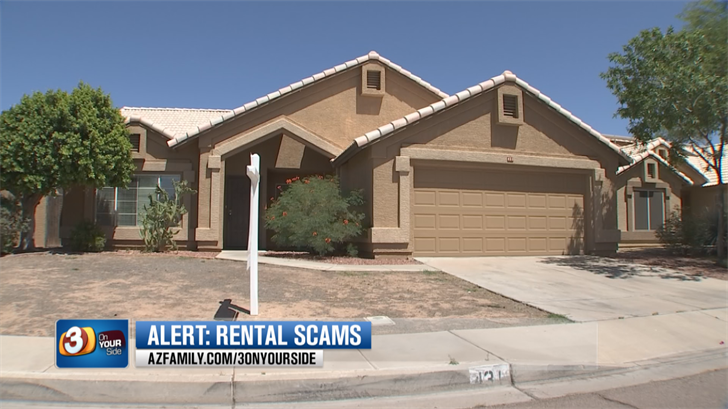 The scammer in this case likely searched the internet looking for a vacant home that was for sale, just like the one Brown looked at renting. (Source: 3TV/CBS 5)