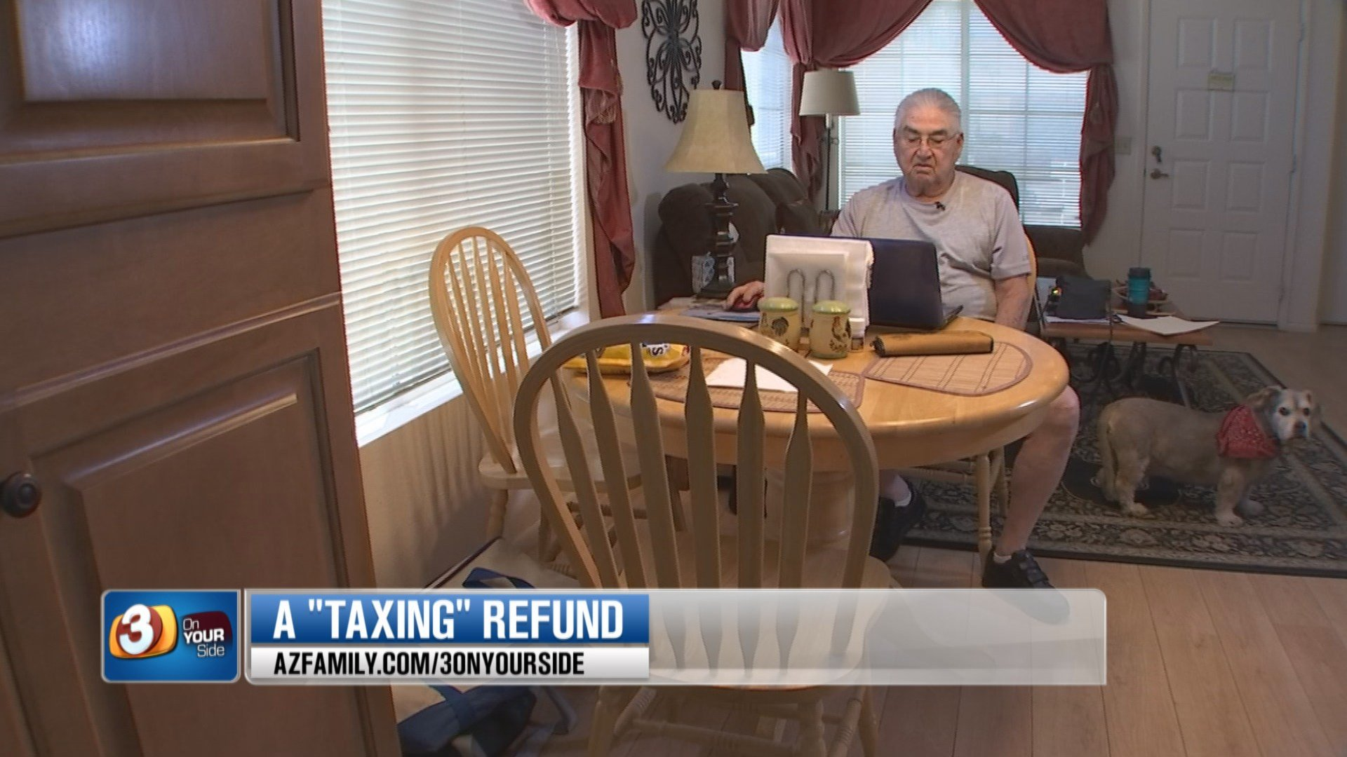 Erasmo Ysasi was supposed to get his tax refund in mid-March. (Source: 3TV/CBS 5)