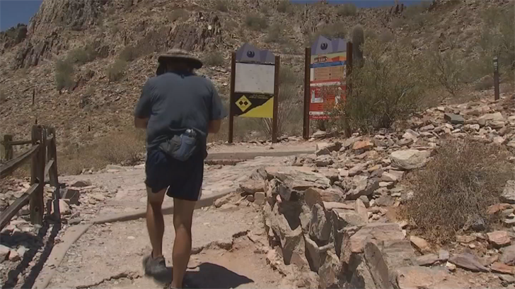 Hikers who enjoy hiking in the heat say people should know their limits. (Source: 3TV/CBS 5)