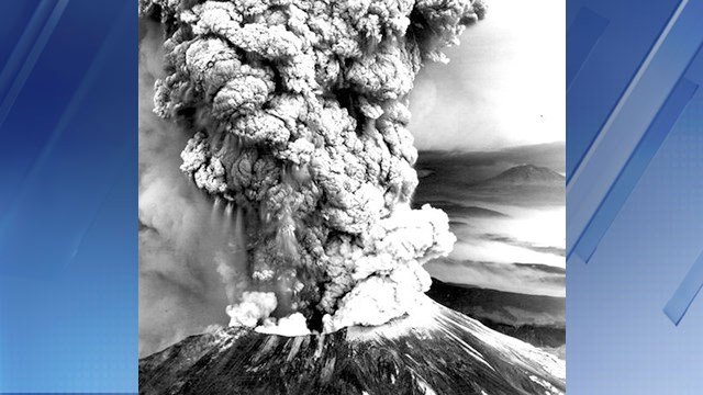 Mount St. Helens in 1980 when it erupted. (Source: CBS News)