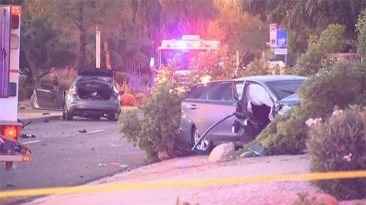 6 people were hurt in a crash in Chandler. (Source: 3TV/CBS 5)