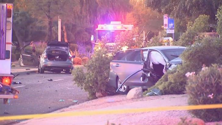 6 people were hurt in a crash in Chandler. (Source: 3TV/CBS 5)