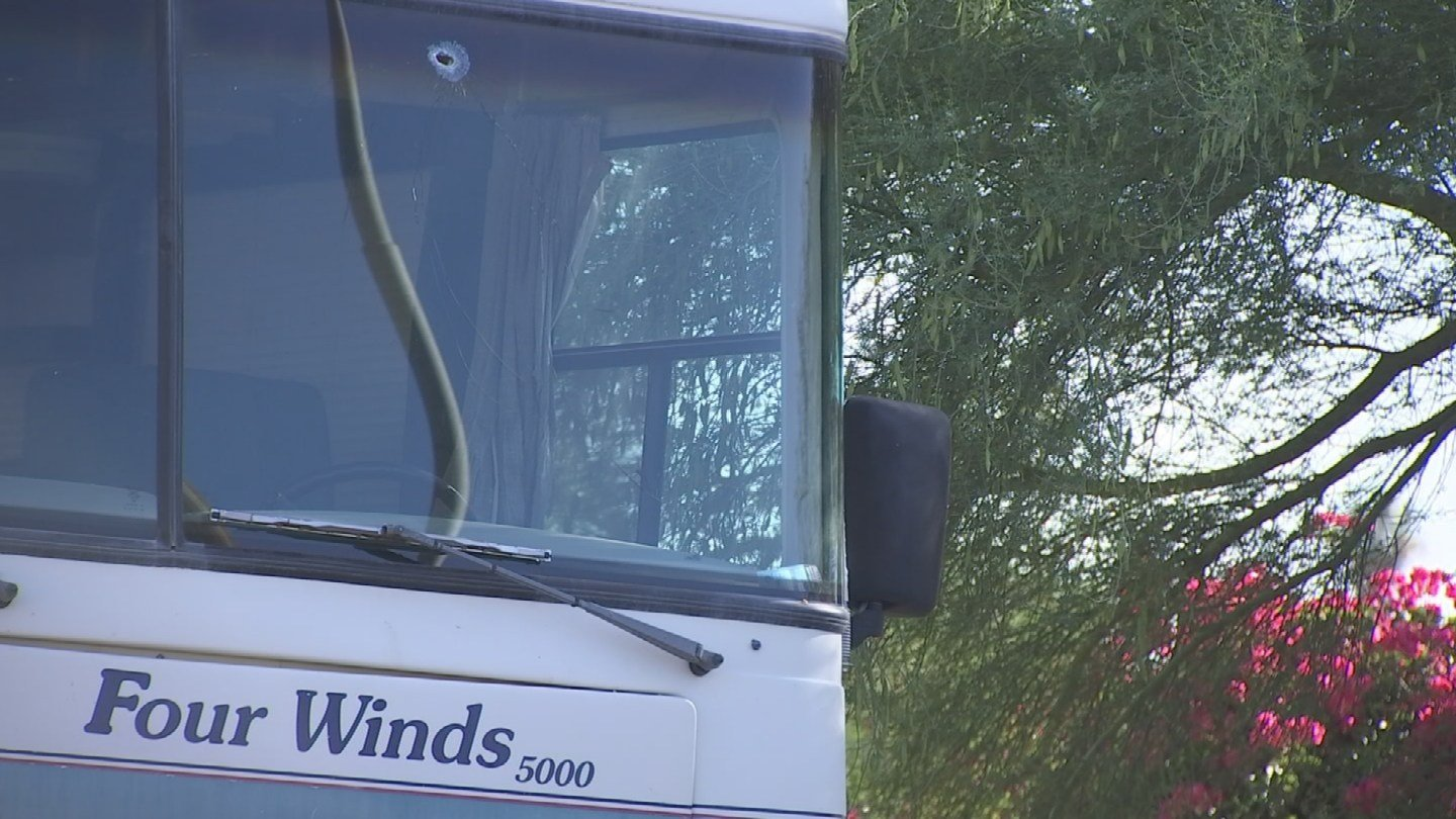 His friends RV parked near the house was also struck by bullets. (Source: 3TV/CBS 5)