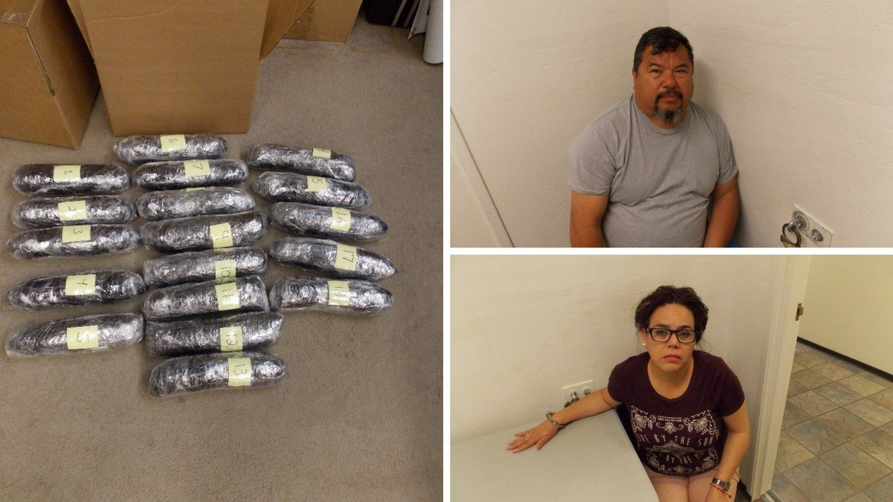 Adrian Heredia (top right), 54 and Ivette Calvo, 45 (Source: Navajo County Sheriff's Office)