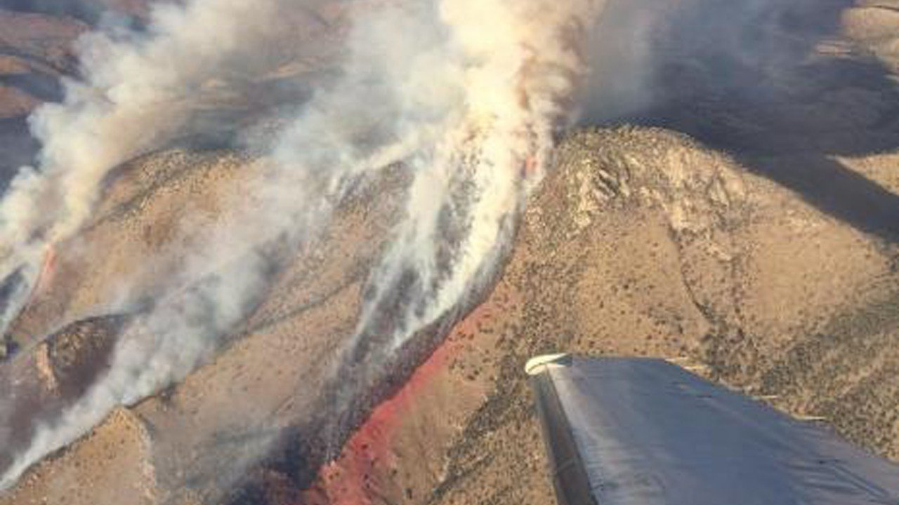 Aerial view of the Sawmill Fire (Source: Albert Linch)