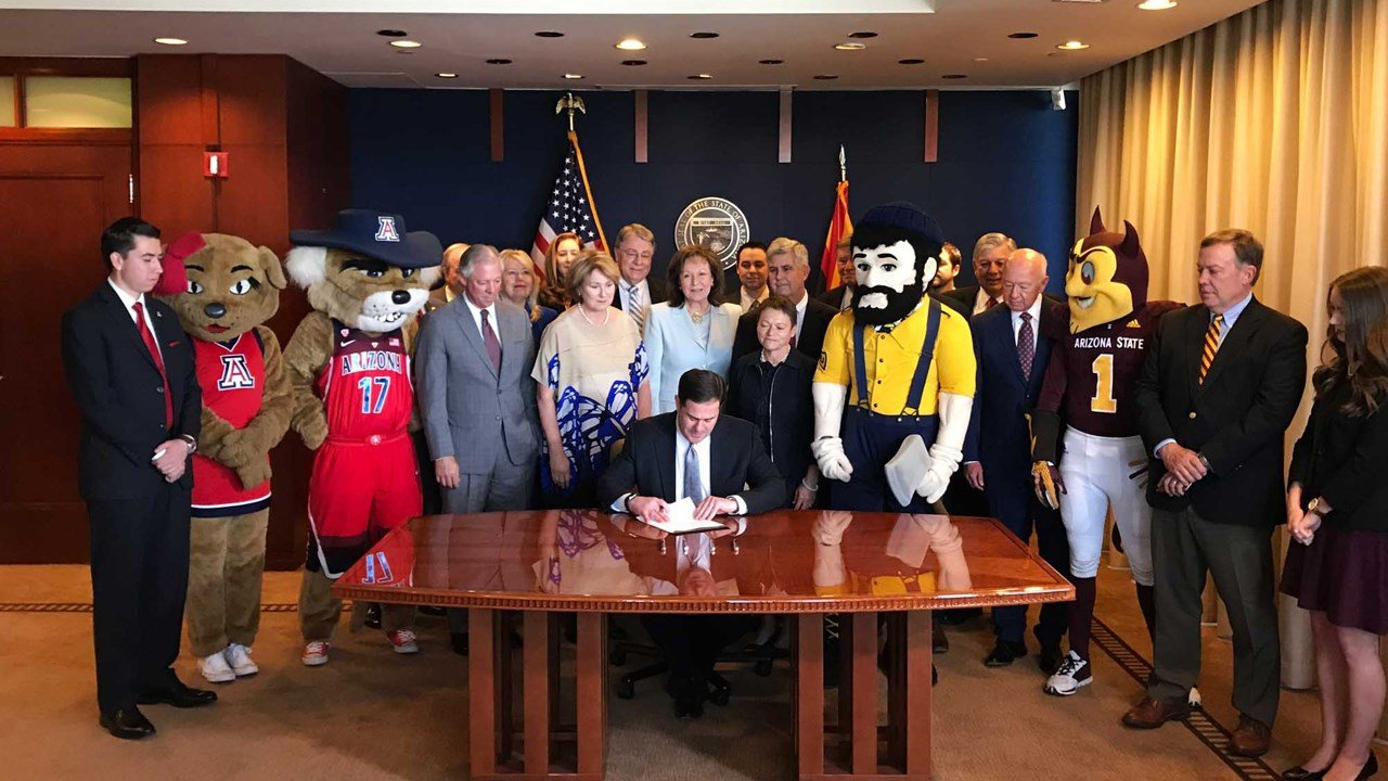 Gov. Doug Ducey signed a bill that would allow Arizona's three universities to borrow up to $1 billion. (Source: azgovernor.gov)