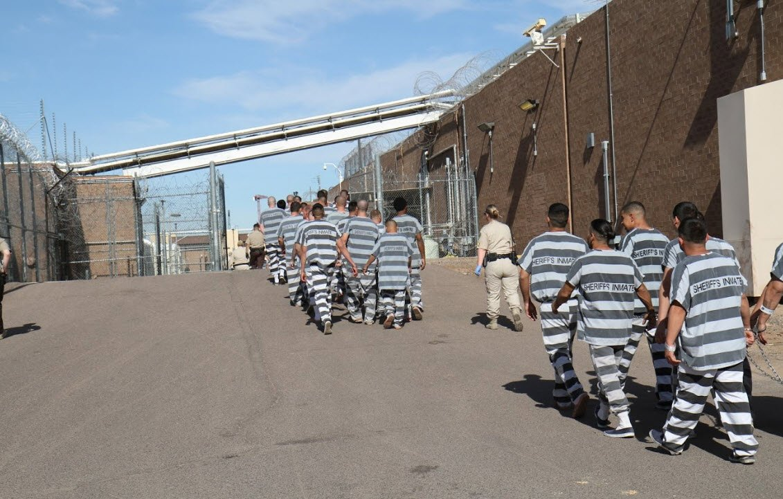 Inmates being relocated from Tent City (Source: MCSO)