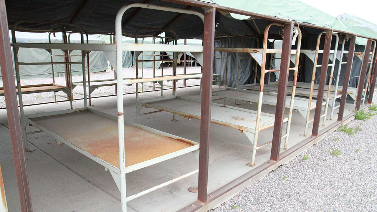 Sheriff Penzone gave a tour of the soon-to-be-dismantled Tent City. (Source: MCSO)