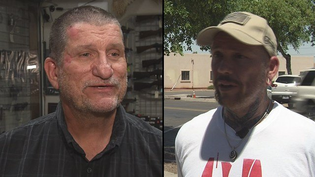 Edward Andersson, left, was shot and being attacked when Thomas Yoxall, right, came to his rescue. (Source: 3TV/CBS 5)
