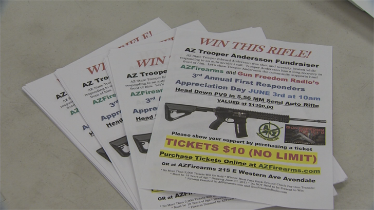 AZFirearms in Avondale is holding a fundraiser for Andersson. (Source: 3TV/CBS 5)