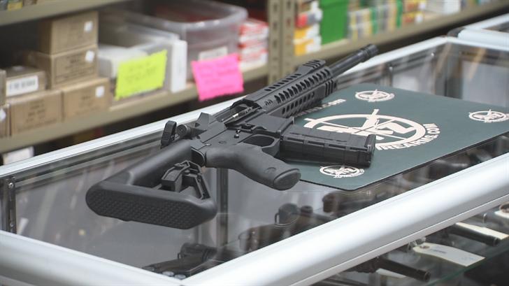 The gun shop will be raffling off a Head Down PV9 Semi-Auto Rifle worth about $1,300. (Source: 3TV/CBS 5)