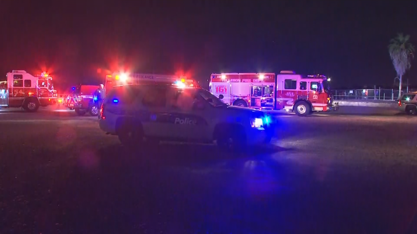 A man was taken to the hospital after he was pulled from the canal in the west Valley. (Source: 3TV/CBS 5)