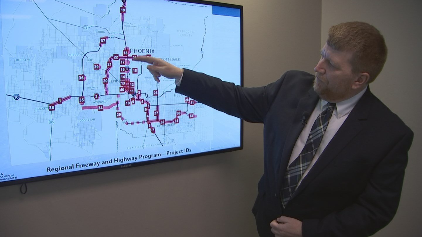 The Maricopa Association of Governments (MAG) reported a $1.25 billion surplus, which they will use to help bring back some sidelined projects and jump-start some current projects in the regional transportation plan. (Source: 3TV/CBS 5)