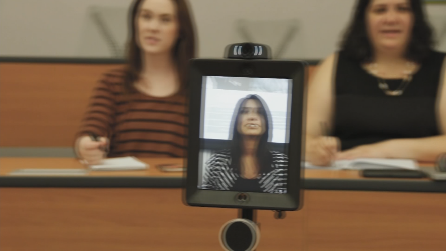 The robots can be operated remotely from a student who isn't able to attend class. (Source: 3TV/CBS 5)