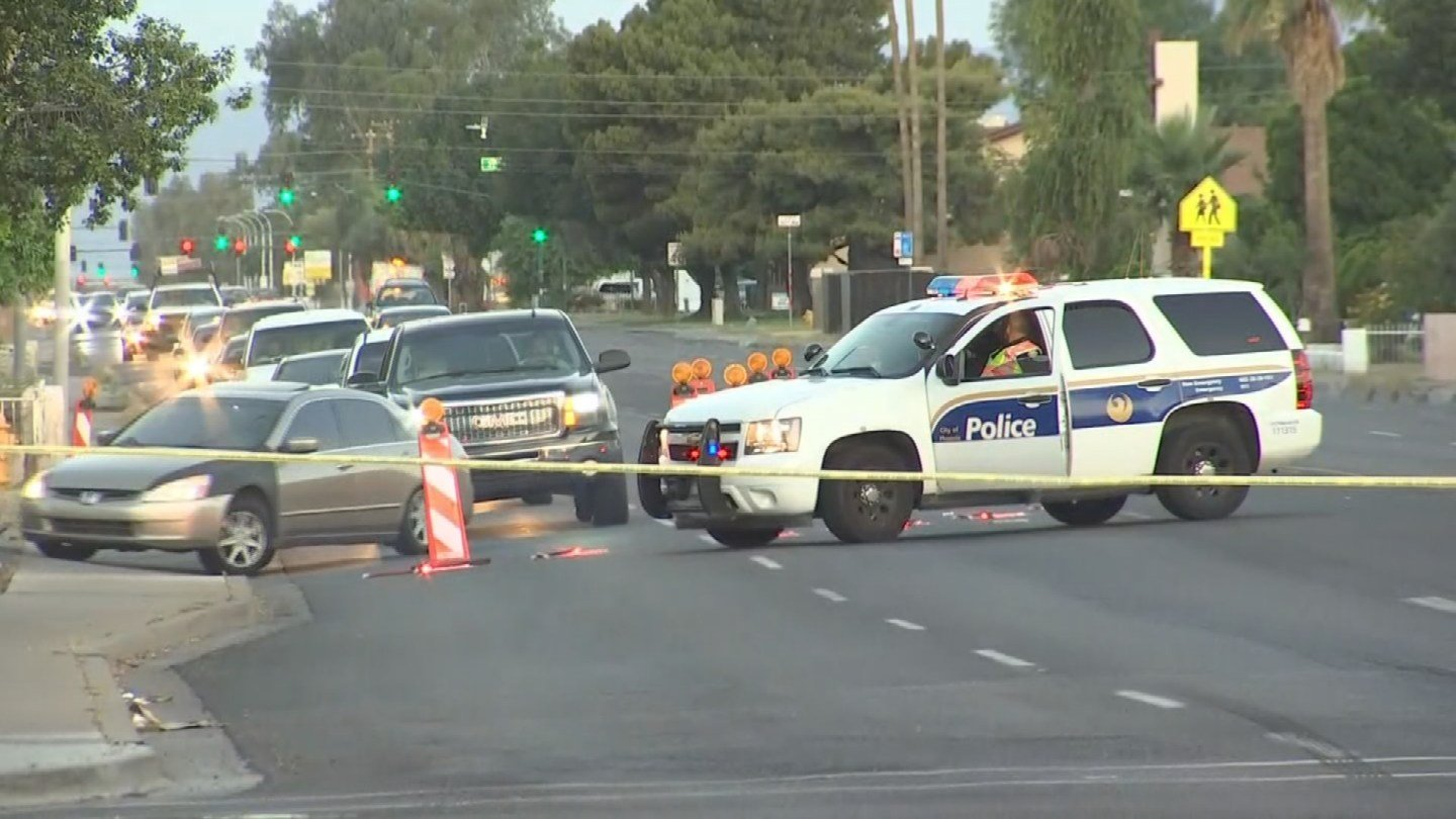 A man was shot in the chest after a drive-by shooting in Phoenix. (Source: 3TV/CBS 5)