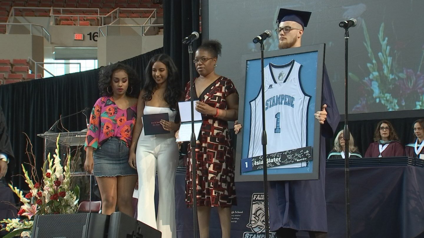 Two victims in a deadly accident last year were honored at their high school graduation. (Source: 3TV/CBS 5)