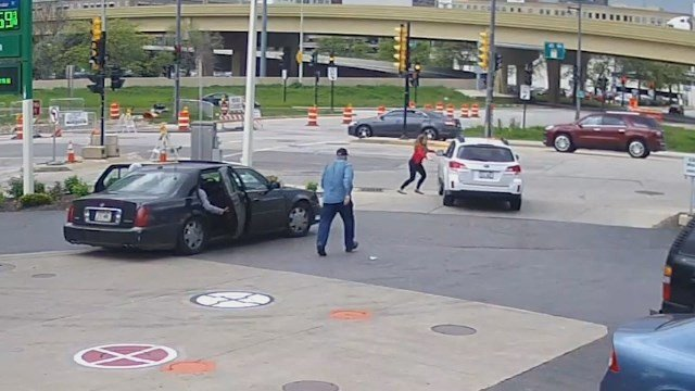 While Smith was trying to stop her still rolling vehiclethat Cadillac, would-be thief inside, drove away. (Source: CNN)