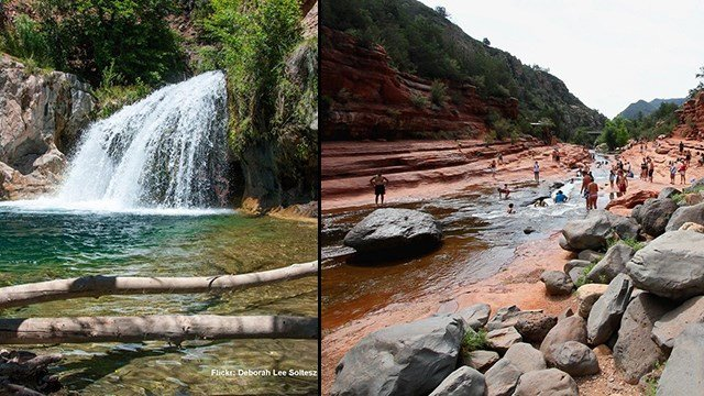 While Arizona is known for its cacti and deserts, there are some spots to cool off from the heat. (Source: Flickr)