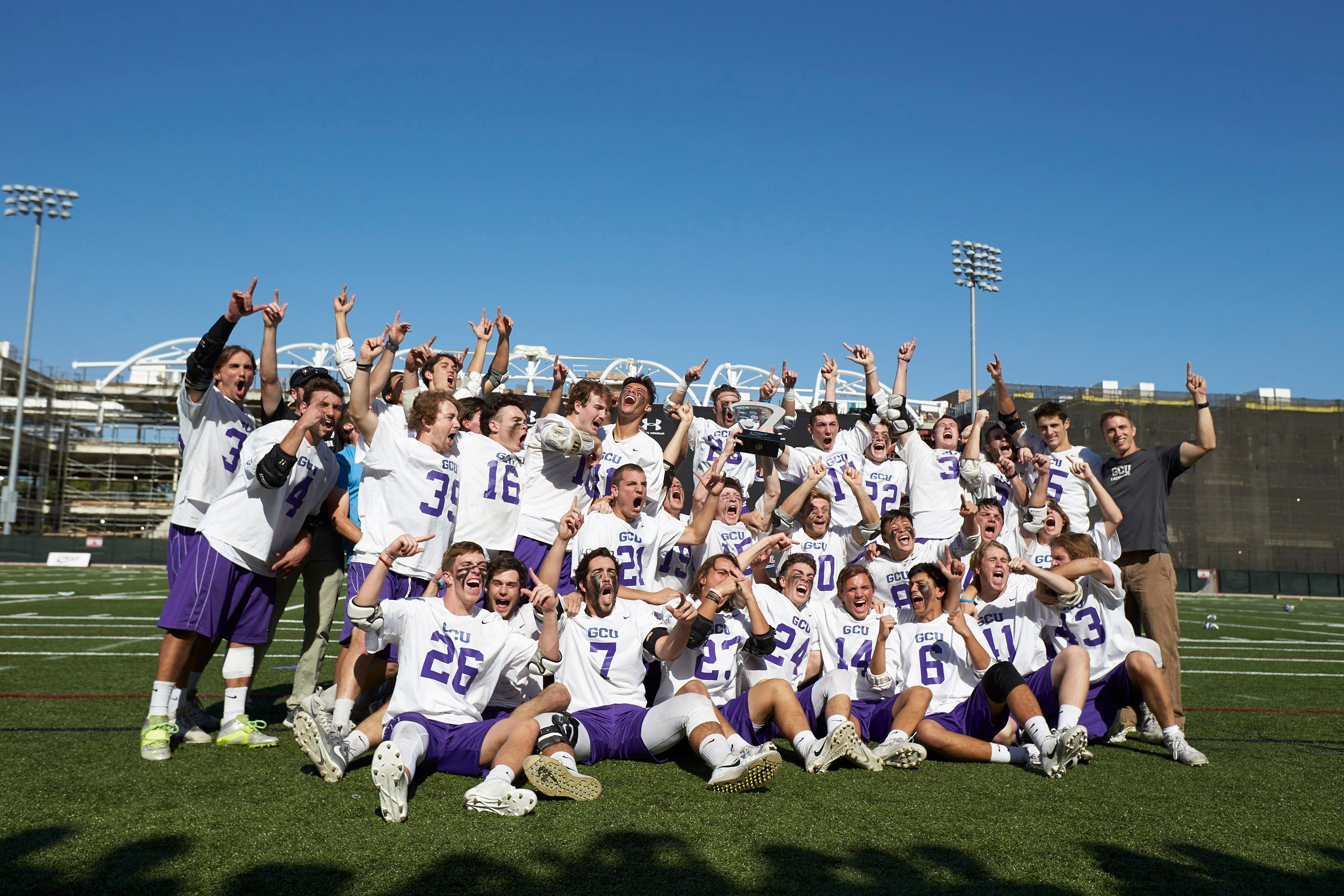 GCU's 13thconsecutive win was a 12-8 triumph that was worth a national championship and a lifetime of smiles. (Source: GCU)