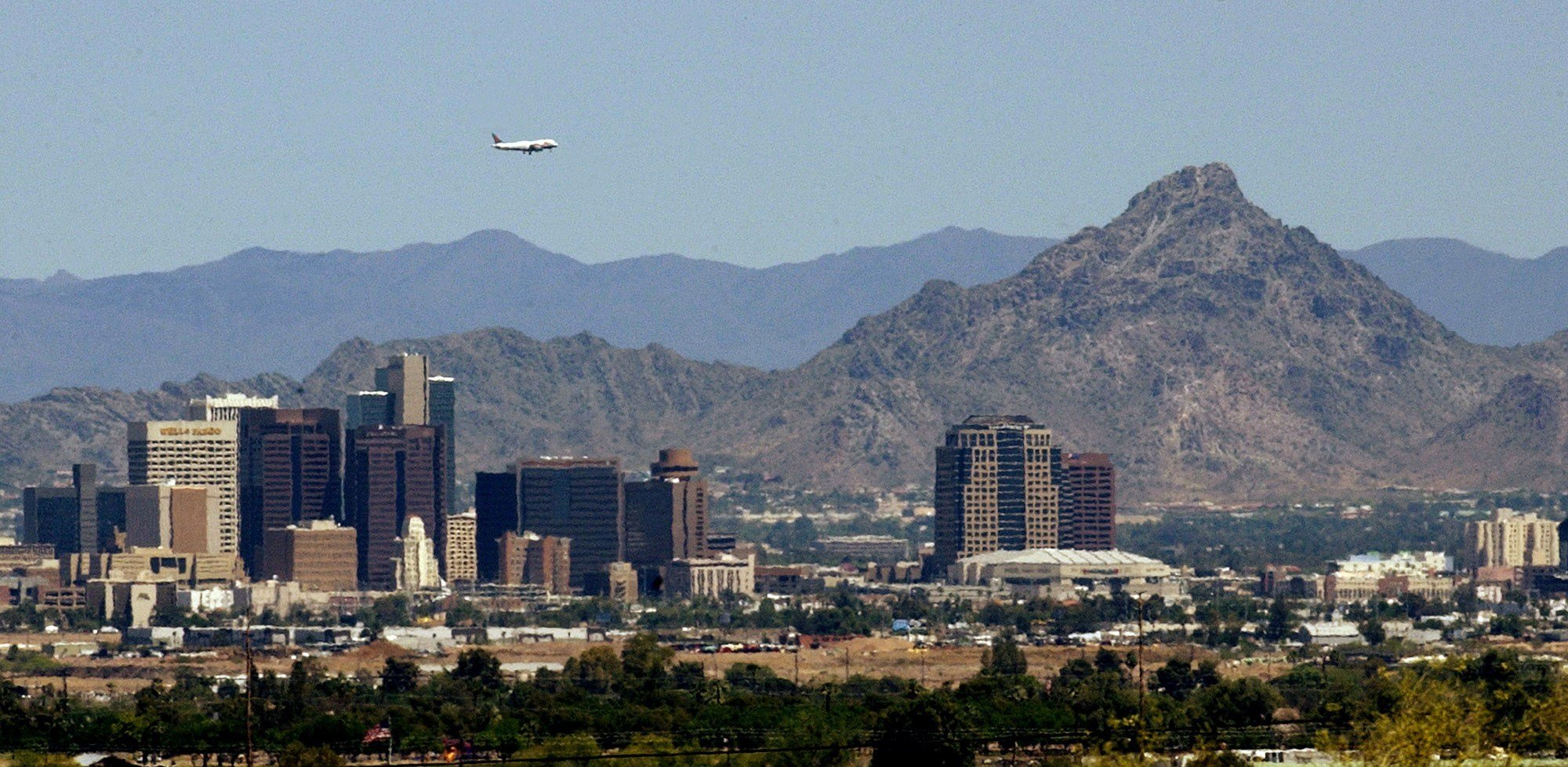 Rain is pretty much non-existent in Phoenix in May and June as we patiently await the arrival of the monsoon. (Source: AP File Photo)
