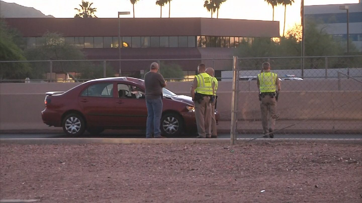 A naked man ran onto the I-17 and was struck by a vehicle. (Source: 3TV/CBS 5)